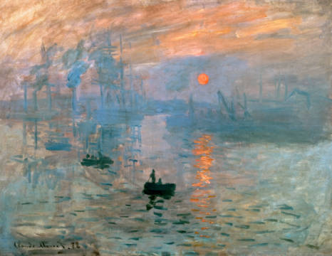 Impression: Sunrise, Le Havre, 1872 of artist Claude Monet as framed image