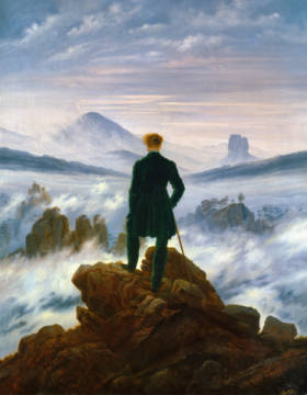 The Wanderer above the Sea of Fog, 1818 of artist Caspar David Friedrich, Sea, Oil, 1818, Mist, Brume, Waves, David, Power