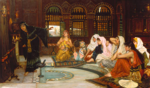 Die Befragung des Orakels of artist John William Waterhouse, Semi, Hark, East, Harem, Tense, Images, Future, Strain