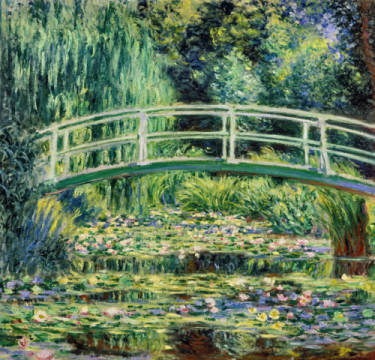 White Waterlilies, 1899 of artist Claude Monet, Oil, Pad, Pond, 1899, Park, Turn, Parks, Monet