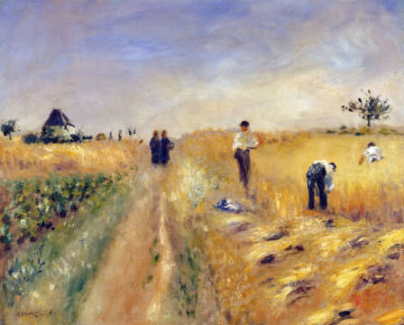 The reapers of artist Pierre Auguste Renoir, Oil, Les, Male, Life, 74cm, 1873, French, Living