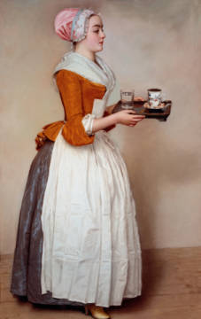 The chocolate girl of artist Jean-Etienne Liotard as framed image