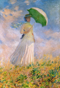 Woman with a Parasol turned to the Right, 1886 of artist Claude Monet as framed image