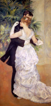 Tanz in der Stadt of artist Pierre Auguste Renoir, Oil, 180, Ball, Town, Life, Gown, Shot, Glove