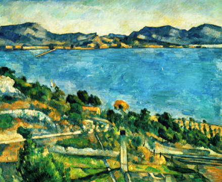 View of the Gulf of Marseille of artist Paul Cézanne as framed image