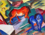 Franz Marc - Red and Blue Horses