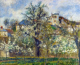 Camille Pissarro - Vegetable garden and trees in bloom, spring, Pontoise