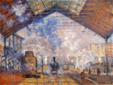 Claude Monet - The station Saint Lazare