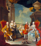 Martin van Meytens - Francois III (1708-65) with his wife Marie-Therese (1717-80) and their children