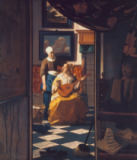 Jan Vermeer van Delft - The love letter