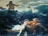 Arnold Böcklin - Playing in the Waves