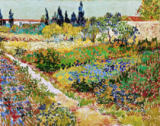 Vincent van Gogh - Blossoming Garden and Path, Arles