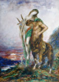 Gustave Moreau - The tired centaur