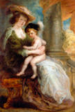 Peter Paul Rubens - Helene Fourment (1614-73) and her son Frans