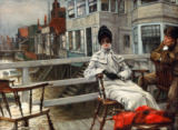 James Jacques Joseph Tissot - In Erwartung des Bootes, Greenwich