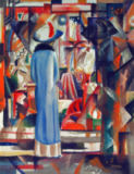 August Macke - Large, Bright Shop Window