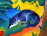 Franz Marc - Black and Blue Fox