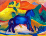 Franz Marc - Blue Horse, children's picture