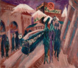 Ernst-Ludwig Kirchner - Leipziger Straße with electric train