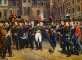 Emile Jean Horace Vernet - Napoloen bids farewell to his Guard at Fontainebleau on 20 April 1814