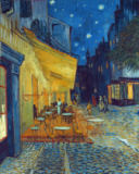 Vincent van Gogh - Terrace of the Cafe at the Place du Forum in Arles in the Evening