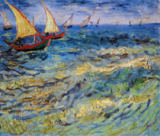 Vincent van Gogh - Seascape at Saintes-Maries  1888