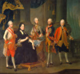 Louis Joseph Maurice - Empress Maria Theresa of Austria (1717-80) with four of her sons;  Joseph (1741-90), Ferdinand (1754-1806), Leopold (1747-92) an