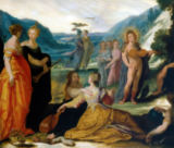 Bartholomäus Spranger - Apollo, Pallas and the Muses