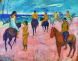 Paul Gauguin - Horseman at the beach