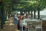 Max Liebermann - Terrasse des Restaurants Jacob in Nienstedten an der Elbe