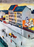 August Macke - Our street in gray