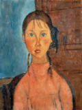 Amedeo Modigliani - Girl with Pigtails, c.1918