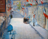 Edouard Manet - The Rue Monsier with Flags, 1878