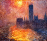 Claude Monet - The Parliament, sunset, 1904