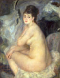 Pierre Auguste Renoir - Nude, or Nude Seated on a Sofa, 1876
