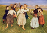 Hans Thoma - Children Dancing