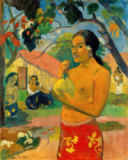 Paul Gauguin - Ea haere ia oe? Where are you going? or Tahitian woman with fruit II