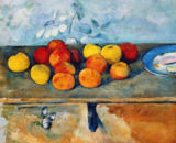 Paul Cézanne - Still life of apples and biscuits, 1880-82
