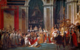 Jacques-Louis David - Napoleon's and Josephines Coronation in Notre Dame Cathedral in the presence of Pope Pius VII