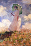 Claude Monet - Woman with a parasol, turn to left, Suzanne Hoschede