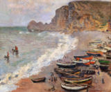 Claude Monet - Etretat, beach and the Porte d'Amont, 1883