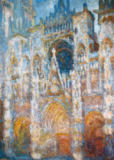 Claude Monet - Rouen Cathedral, Blue Harmony, Morning Sunlight, 1894