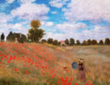 Claude Monet - Mohnfeld bei Argenteuil (rote Variante)