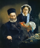 Edouard Manet - The artist's parents Auguste Manet and Eugenie Desiree Fournier