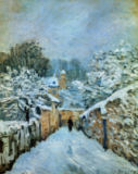 Alfred Sisley - Snow in Louveciennes
