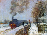 Claude Monet - Train in the Snow or The Locomotive, 1875