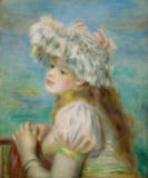 Pierre Auguste Renoir - Portrait of a young woman in a lace hat, 1891
