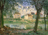 Alfred Sisley - Village by the Seine, Villeneuvela-Garenne, 1872