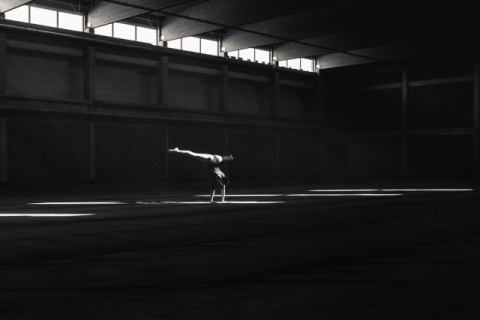 Ballando nella luce of artist Martin Krystynek, Arts, Light, Dance, Performing, Performance, Blackandwhite