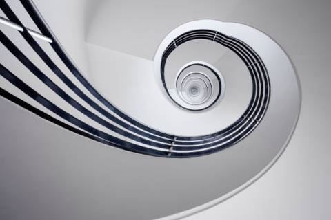 Fibonacci of artist Max Zimmermann, Twirl, Stairs, Spiral, Nautilus, Abstract, Staircase, Architecture